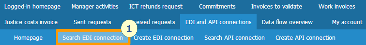 Creating an EDI connection form – Communauté Chorus Pro