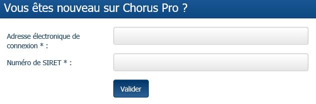 Bloc de connexion Chorus Pro