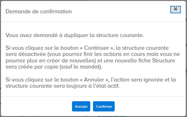 demande de confirmation modification de l'identifiant