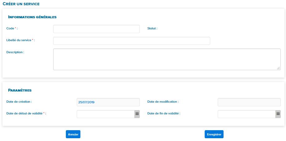 bloc de texte créer un service