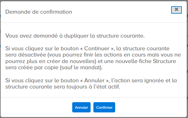 fenêtre de confirmation de modification de l'identifiant