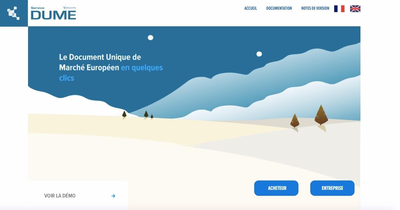Page d'accueil DUME